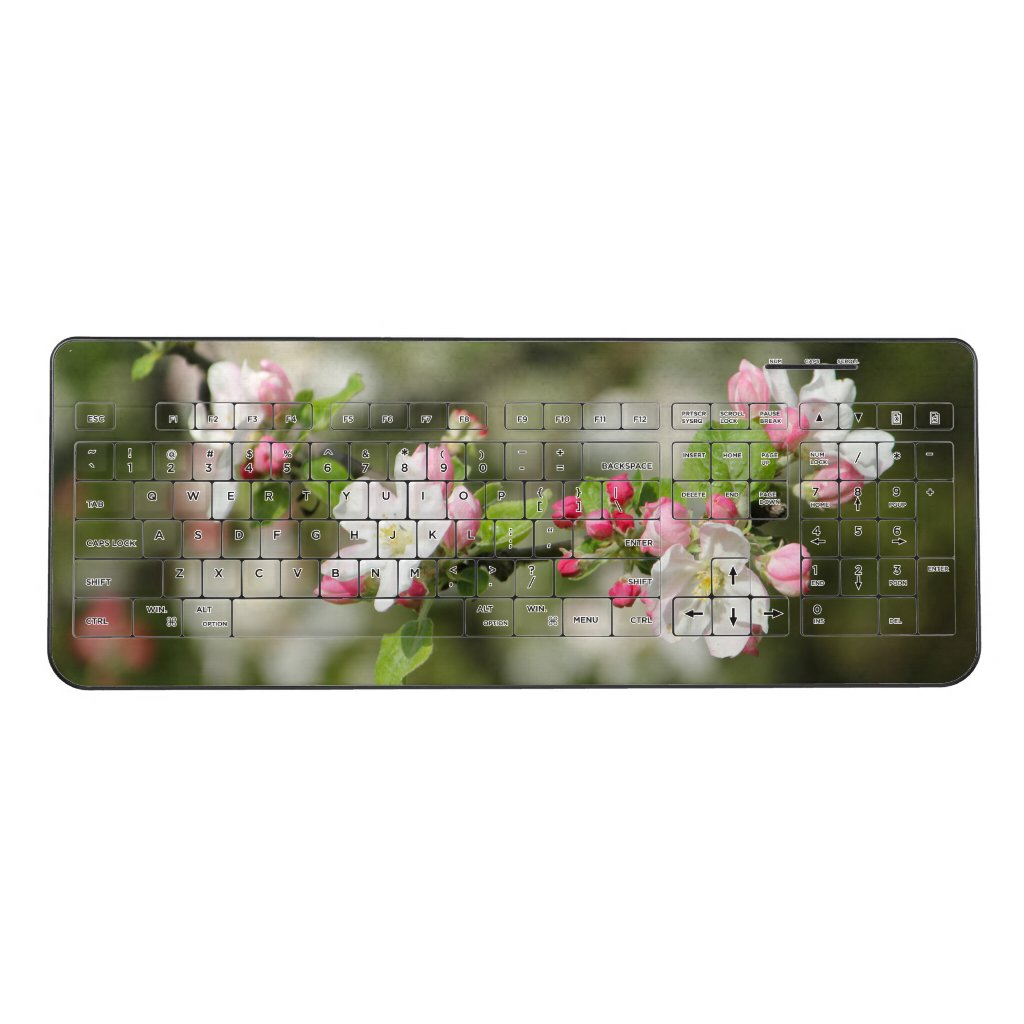Apple Blossom Branch Wireless Keyboard