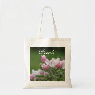 Apple blossom bride/groom bag canvas bags
