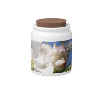 Apple Blossom Candy Jar
