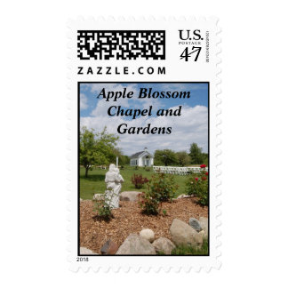 Apple Blossom Chapel and Gardens Postage Stamp
