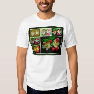 Apple Blossom Collage - Enhanced Digital Photo Tee Shirt