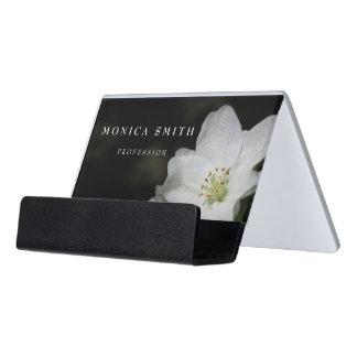 Apple blossom desk business card holder
