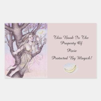 Apple Blossom Dryad Fairy Faerie Bookplate