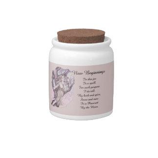 Apple Blossom Dryad Fairy Faerie Spell Jar Candy Jars
