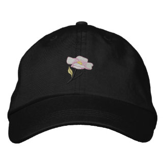 Apple Blossom Embroidered Baseball Cap
