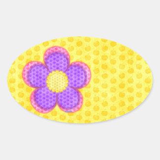 Apple Blossom Flower Oval Sticker