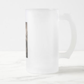Apple Blossom Frosted Glass Beer Mug
