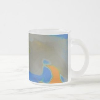 Apple blossom Frosted Glass Coffee Mug