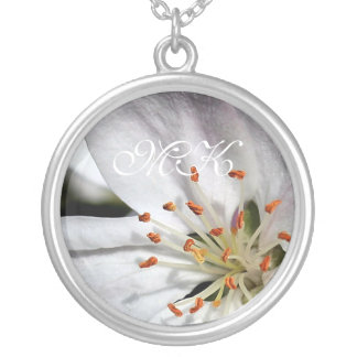 Apple Blossom in Spring Silver Plated Necklace