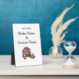 Apple Blossom Modern Simple Elegant WeddingIdeas Plaque