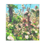Apple Blossom Oil Painting Notepad