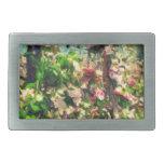 Apple Blossom Oil Painting Rectangular Belt Buckle
