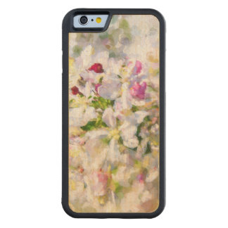 Apple Blossom Painting Carved Maple iPhone 6 Bumper Case