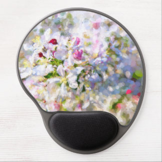 Apple Blossom Painting Gel Mouse Pad