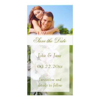 "Apple Blossom/photo  ""Save the Date"" Card"