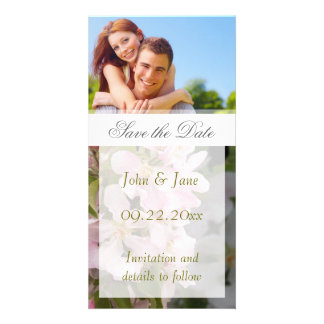 """Apple Blossom/photo  """"Save the Date"""" Card"""