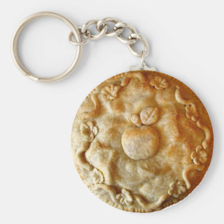 Apple Blossom Pie Basic Round Button Keychain