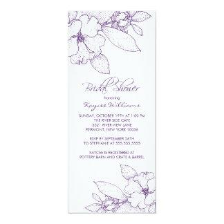 Apple Blossom Purple Bridal Shower Invitation