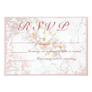 apple blossom RSVP Card
