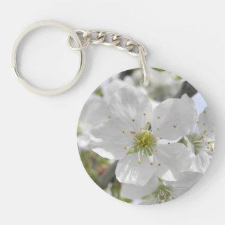 Apple Blossom Single-Sided Round Acrylic Keychain