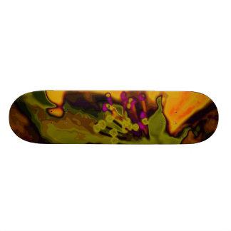 Apple blossom custom skateboard