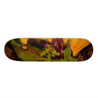 Apple blossom custom skate board