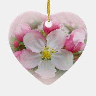 Apple Blossom Time Ceramic Ornament