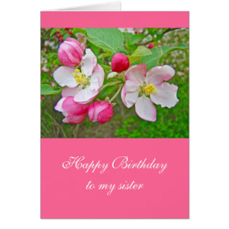 Apple Blossom Time - Sister Birthday Card