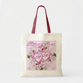 APPLE BLOSSOM WEDDING  ~ Budget Tote Canvas Bag