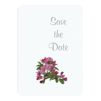 Apple Blossom Wedding Day Theme Save the Date Card