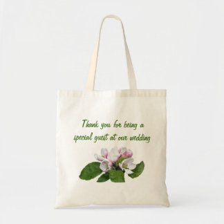 Apple blossom wedding favor thank you bag