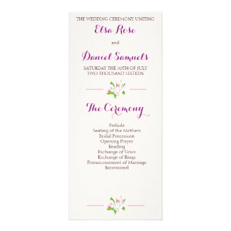 Apple Blossom Wedding Program