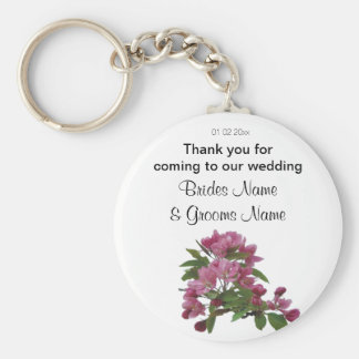 Apple Blossom Wedding Souvenirs Keepsake Giveaways Keychain