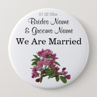 Apple Blossom Wedding Souvenirs Keepsake Giveaways Pinback Button