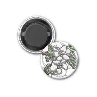 Apple Blossoms 1 Inch Round Magnet