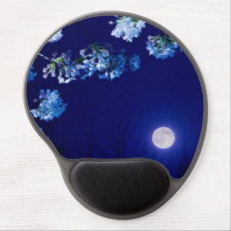 Apple Blossoms Against the Moon Gel Mouse Pad