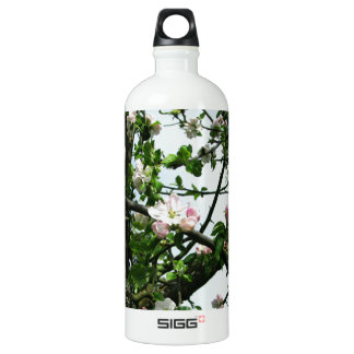 Apple Blossoms Aluminum Water Bottle