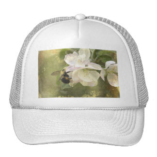 Apple Blossoms and Bumblebee Trucker Hat