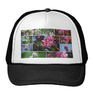 Apple Blossoms and Honey Bees Trucker Hat