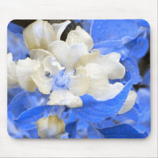 Apple Blossoms- blue and brown Mouse Pad