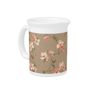 Apple Blossoms Drink Pitcher