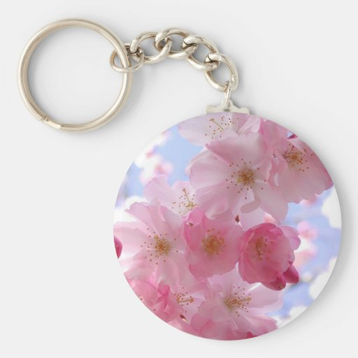 apple blossoms key chains