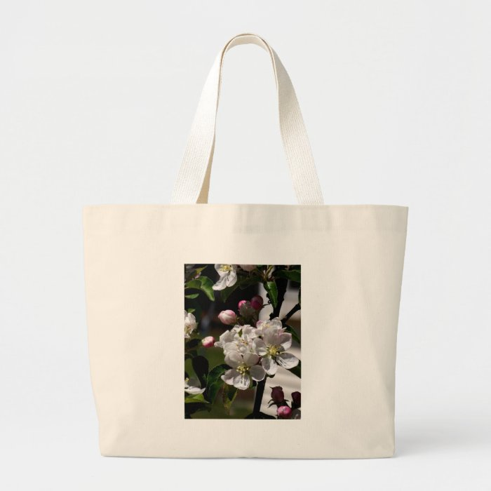 Apple Blossoms Large Tote Bag