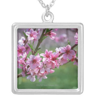 Apple Blossoms Silver Plated Necklace
