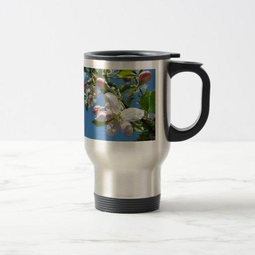 APPLE BLOSSOMS SPRING COFFEE MUG TRAVEL MUGS Cups