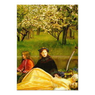 Apple Blossoms Spring Fine Art 5x7 Paper Invitation Card