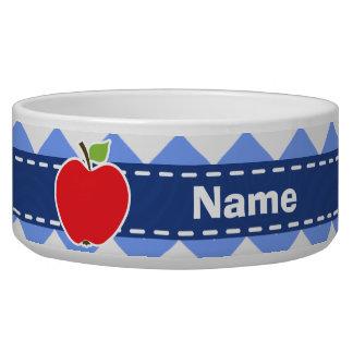 Apple; Blue Chevron Bowl