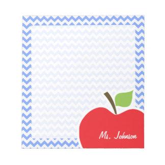 Apple; Blue Chevron Memo Notepads