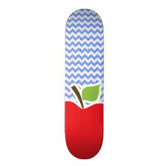 Apple Blue Chevron Skate Board Decks