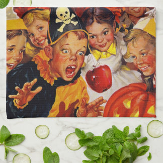 Apple Bobbing Dangers - Funny Halloween Decoration Kitchen Towel